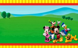 009 Excellent Mickey Mouse Invitation Template High Def  Free Diy 1st Birthday Baby Download