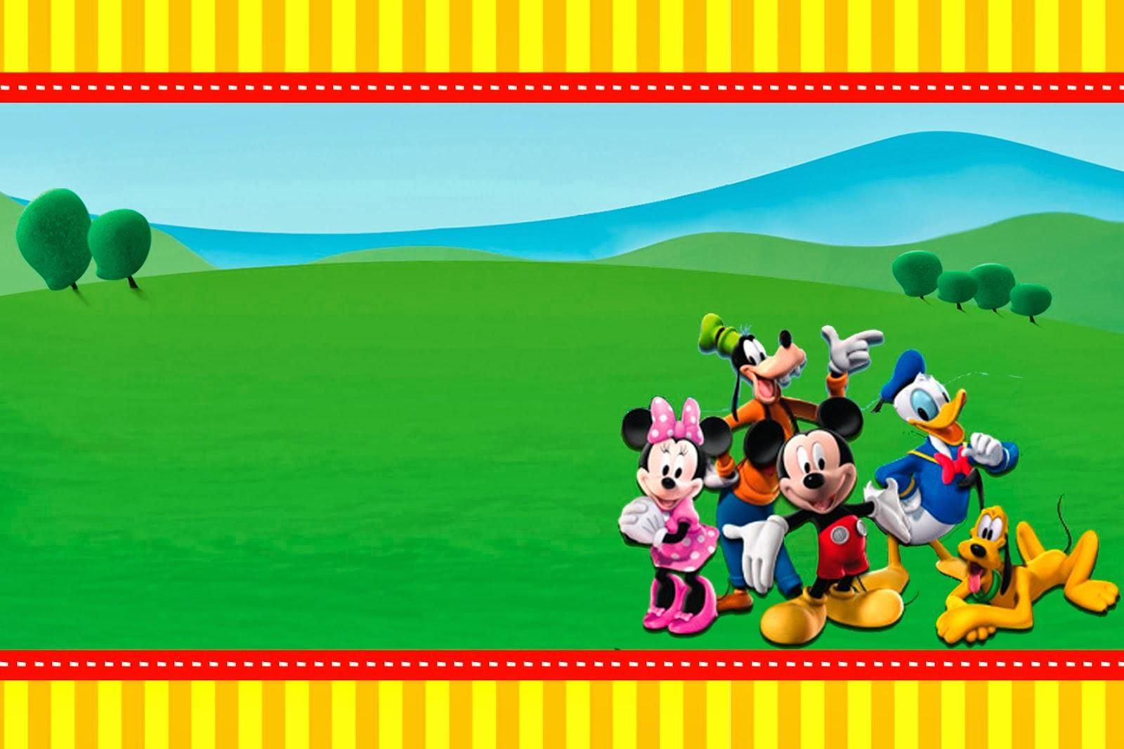 009 Excellent Mickey Mouse Invitation Template High Def  Free Diy 1st Birthday Baby DownloadFull
