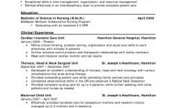 009 Excellent New Grad Nursing Resume Template Example  Templates Graduate Nurse Practitioner