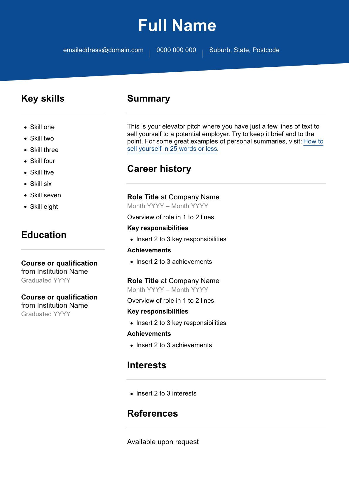 009 Excellent Part Time Job Resume Template High Definition  Student Summary ExampleFull
