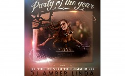 009 Excellent Party Event Flyer Template Free Download Concept