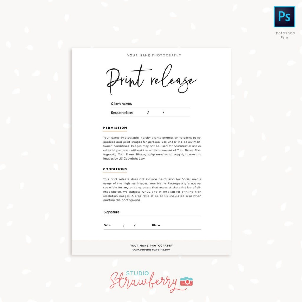 009 Excellent Photography Release Form Template Photo  Image Australia CanadaLarge