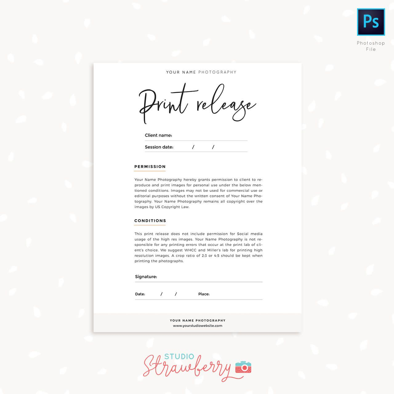 009 Excellent Photography Release Form Template Photo  Image Australia CanadaFull