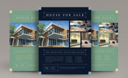 009 Excellent Real Estate Flyer Template Free Example  Publisher Commercial Pdf Download