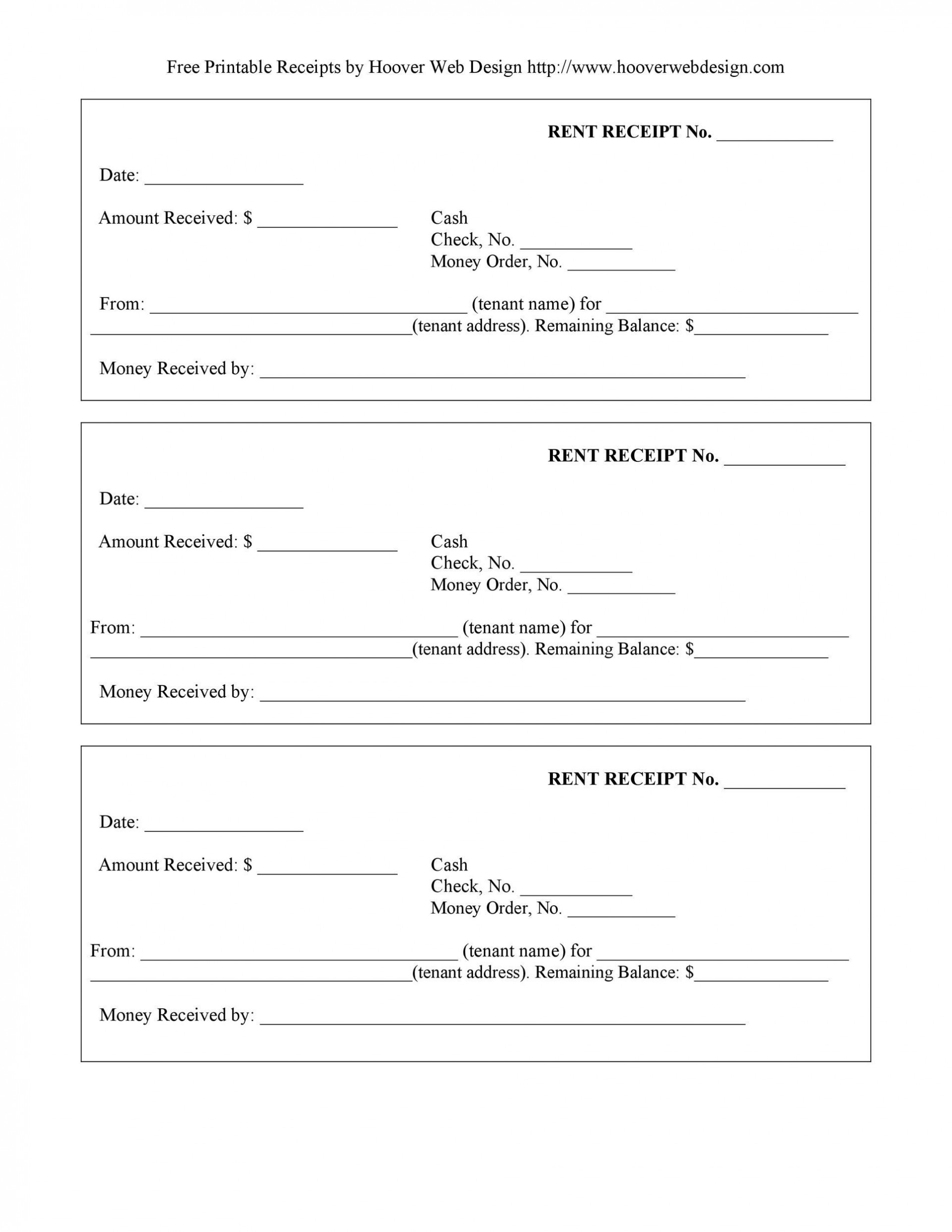 009 Excellent Rent Receipt Template Docx Picture  Format Doc Free Download India1920