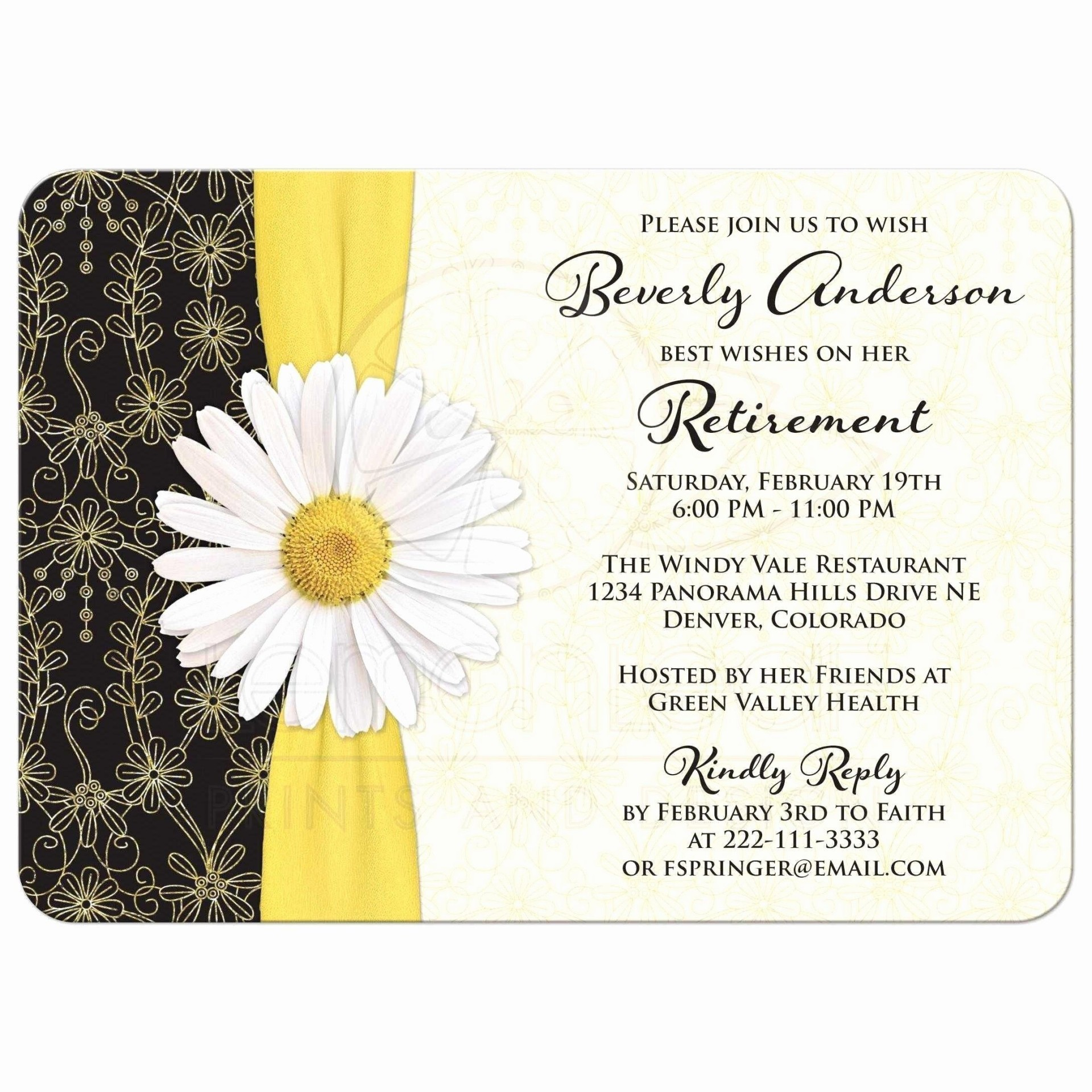 009 Excellent Retirement Party Invite Template Highest Quality  Invitation Online M Word Free1920