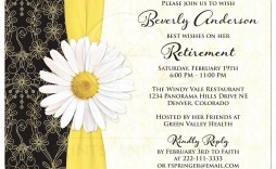 009 Excellent Retirement Party Invite Template Highest Quality  Invitation Online M Word Free