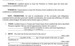 009 Excellent Sample House Rental Agreement Template  Contract Lease