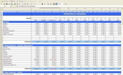 009 Excellent Simple Excel Budget Template Idea  Personal South Africa Household Free