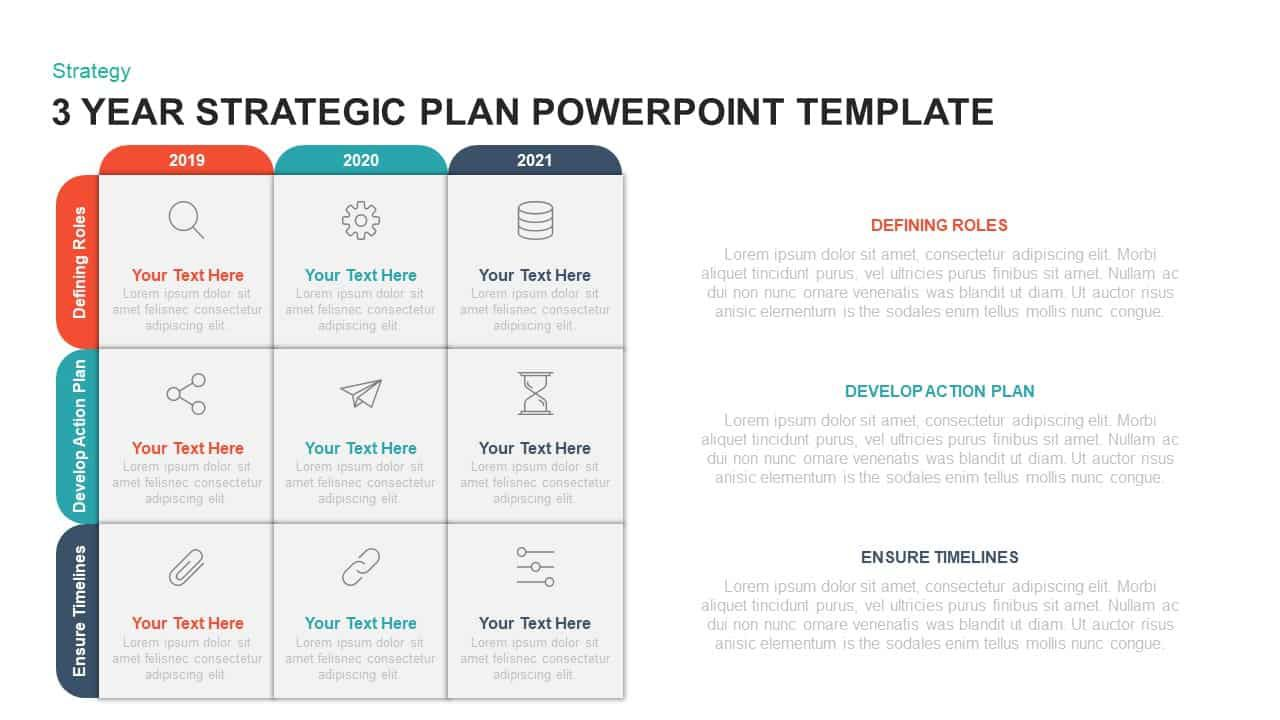 009 Excellent Strategic Planning Ppt Template Free Concept  5 Year Plan One Page AccountFull