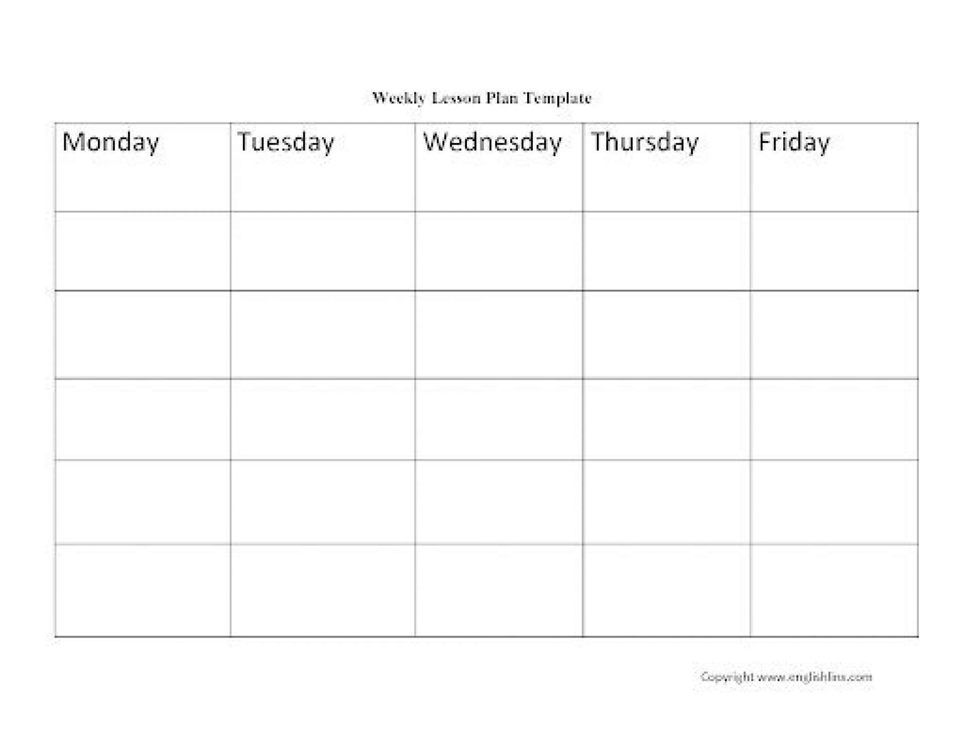 009 Excellent Weekly Lesson Plan Template Idea  Blank Free High School Danielson Google Doc1920