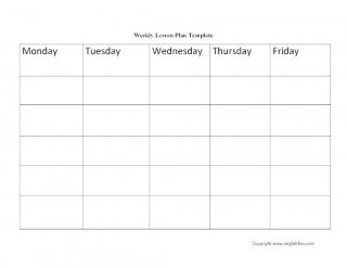 009 Excellent Weekly Lesson Plan Template Idea  Blank Free High School Danielson Google Doc320