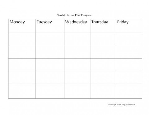 009 Excellent Weekly Lesson Plan Template Idea  Blank Free High School Danielson Google Doc480