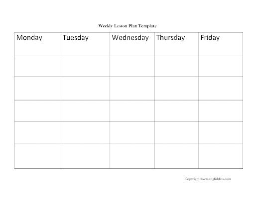 009 Excellent Weekly Lesson Plan Template Idea  Blank Free High School Danielson Google DocFull