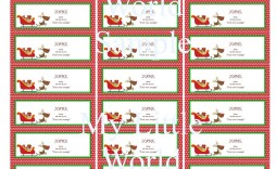 009 Exceptional Christma Label Template Word Design  Microsoft Mailing