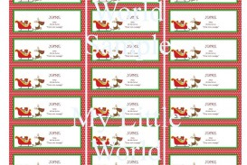 009 Exceptional Christma Label Template Word Design  How To Make In Microsoft Return Addres