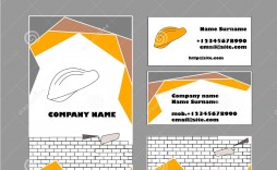009 Exceptional Construction Busines Card Template Example  Templates Visiting Company Format Design Psd