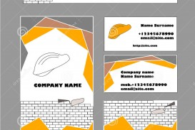 009 Exceptional Construction Busines Card Template Example  Company Visiting Format Word For Material