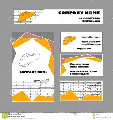 009 Exceptional Construction Busines Card Template Example  Company Visiting Format Word For Material360