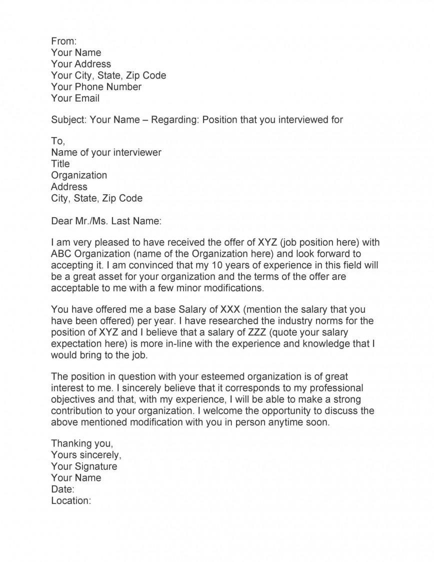 009 Exceptional Counter Offer Letter Template Inspiration  Debt Settlement Job Severance