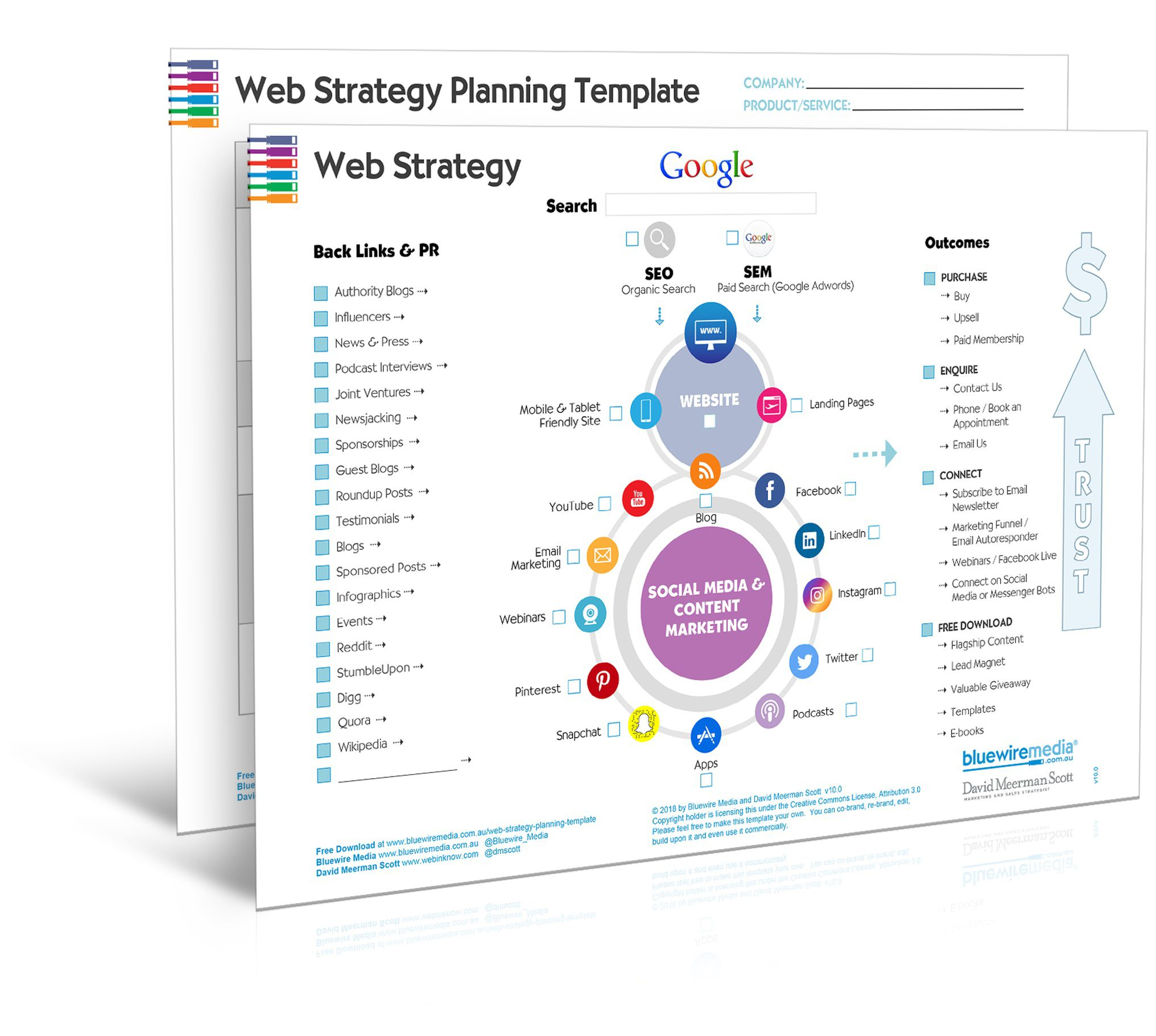 009 Exceptional Digital Marketing Strategy Template Picture  2019 Pdf Doc PlanningFull