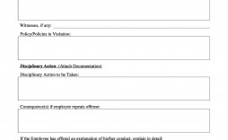 009 Exceptional Disciplinary Write Up Template Inspiration  Templates Employer Form