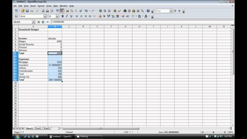 009 Exceptional Event Budget Template Excel Concept  Download 2010 Planner868