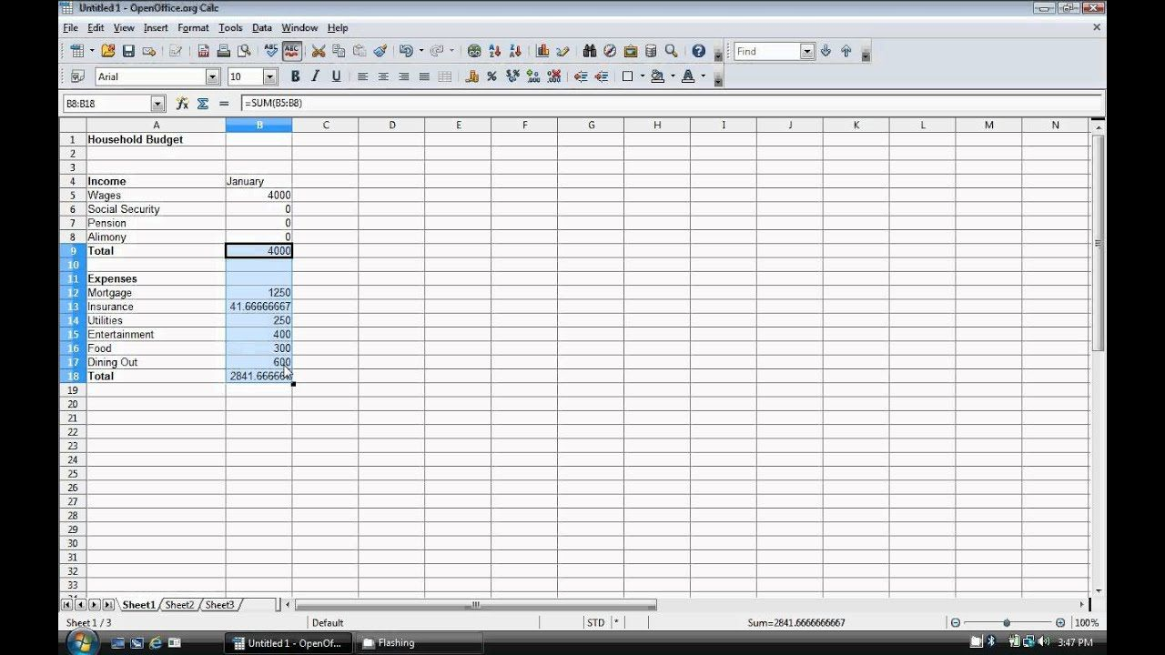 009 Exceptional Event Budget Template Excel Concept  Download 2010 PlannerFull
