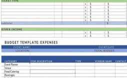 009 Exceptional Event Planning Budget Template Free Picture  Download