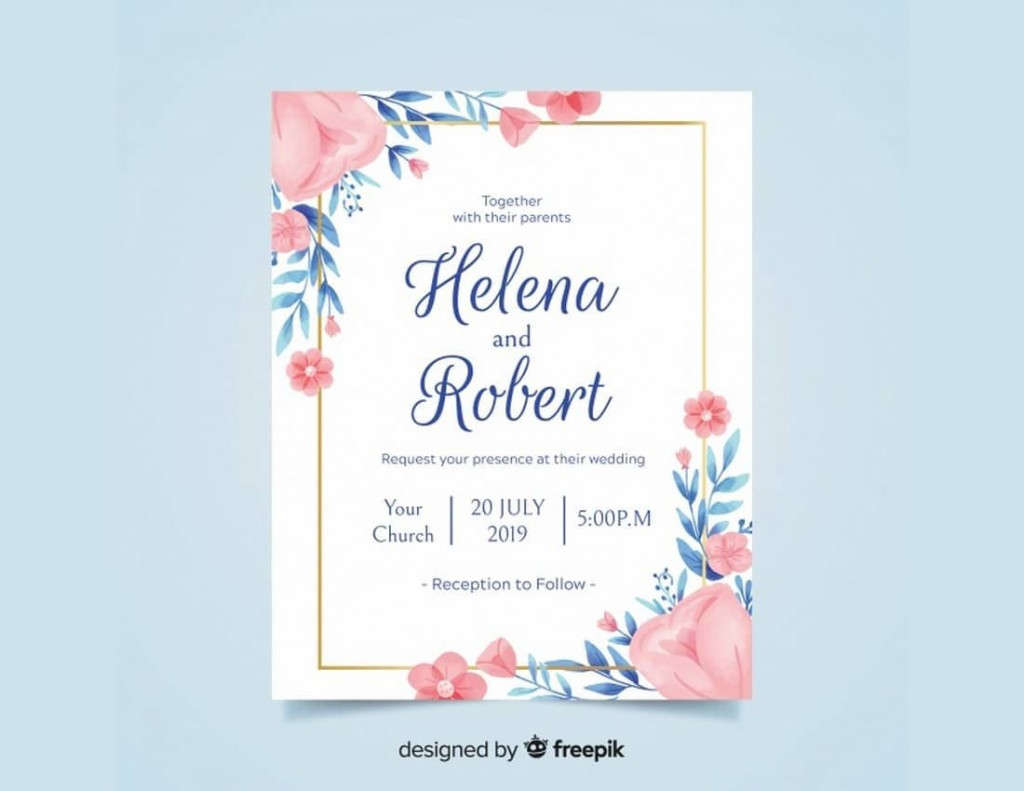 009 Exceptional Formal Wedding Invitation Template Free Sample Large