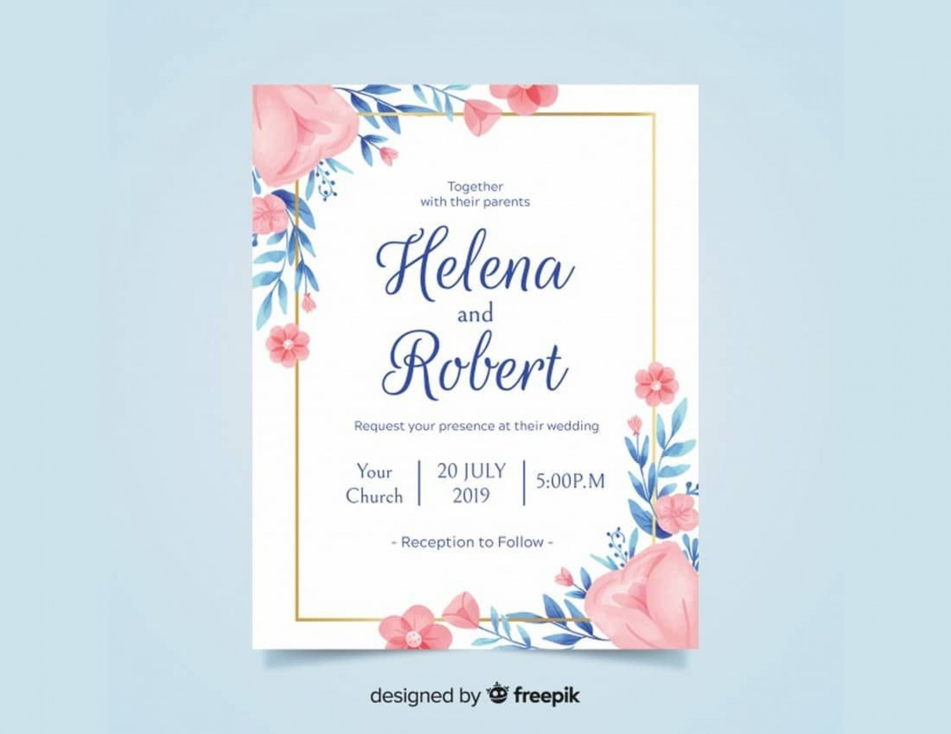 009 Exceptional Formal Wedding Invitation Template Free Sample 1920