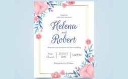 009 Exceptional Formal Wedding Invitation Template Free Sample