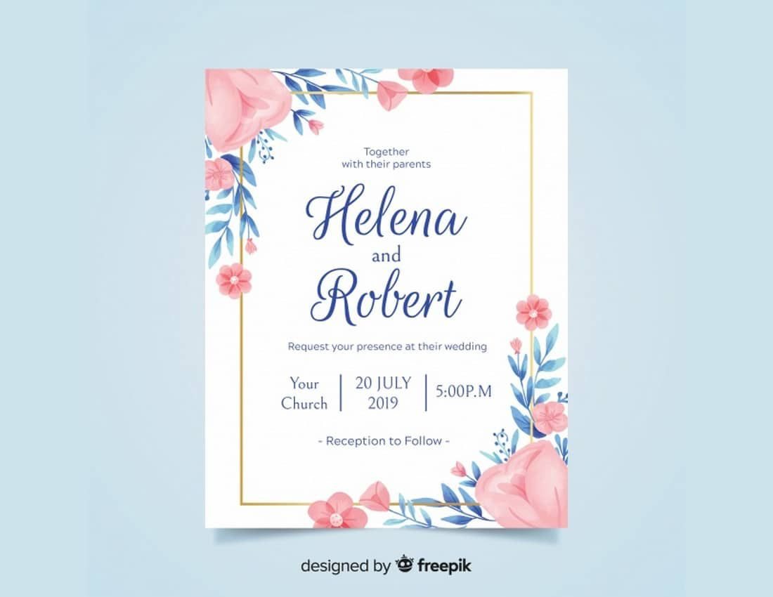 009 Exceptional Formal Wedding Invitation Template Free Sample Full