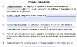 009 Exceptional Free Operating Agreement Template Example  Pdf Missouri Llc