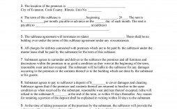 009 Exceptional Free Sublease Agreement Template Pdf Idea  Room Rental Car Form Residential Lease