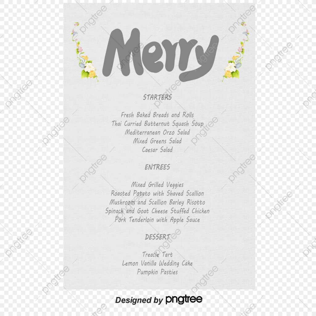 009 Exceptional Free Wedding Menu Template High Definition  Templates Printable For MacLarge