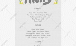 009 Exceptional Free Wedding Menu Template High Definition  Templates Printable For Mac