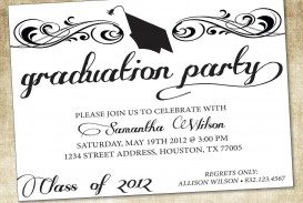 009 Exceptional Microsoft Word Graduation Party Invitation Template Concept