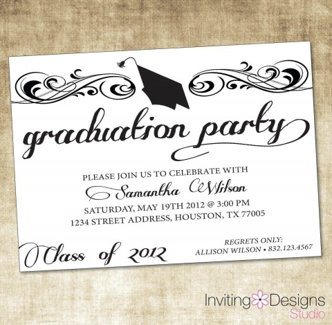 009 Exceptional Microsoft Word Graduation Party Invitation Template Concept 480