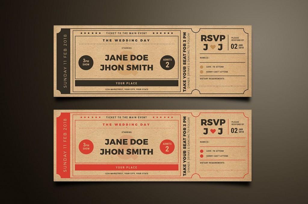 009 Exceptional Movie Ticket Invitation Template Design  Blank Free Download Editable PrintableLarge