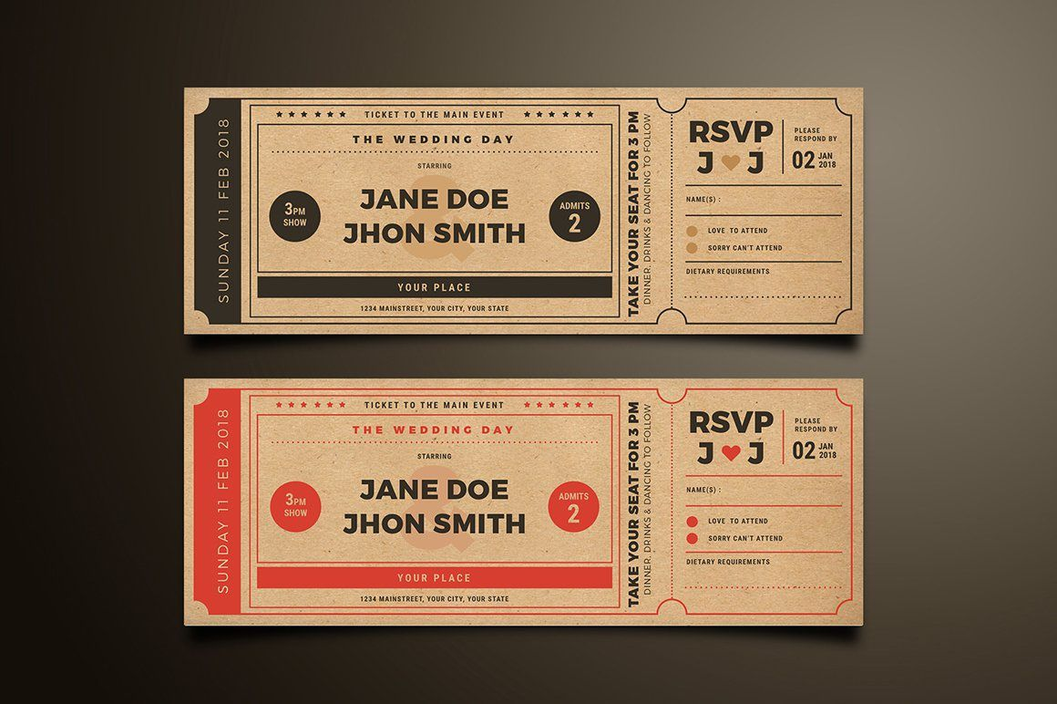 009 Exceptional Movie Ticket Invitation Template Design  Blank Free Download Editable PrintableFull