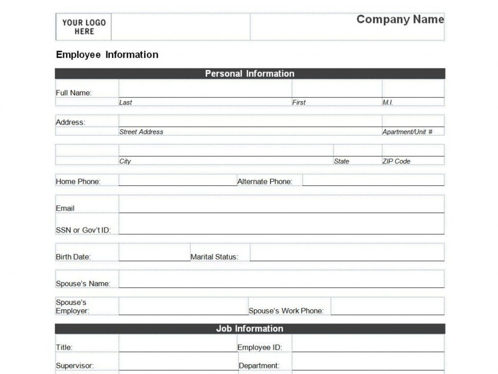 009 Exceptional New Busines Client Information Form Template Photo 1920