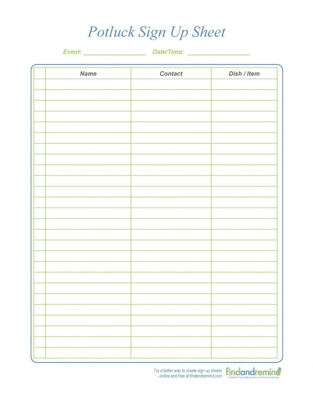 009 Exceptional Pdf Sign Up Sheet Template High Def  TemplatesLarge