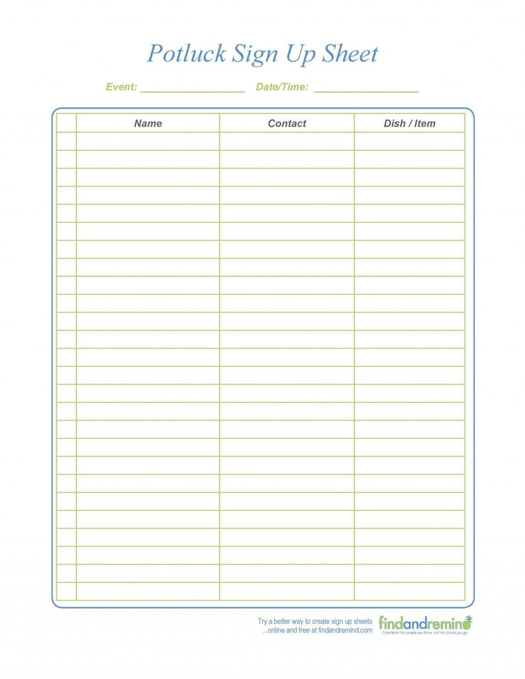 009 Exceptional Pdf Sign Up Sheet Template High Def  TemplatesFull