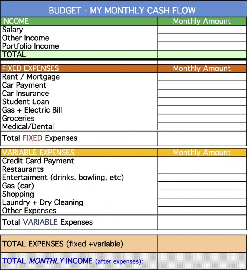009 Exceptional Personal Cash Flow Statement Template Highest Clarity  Example Excel 12 Month Analysi