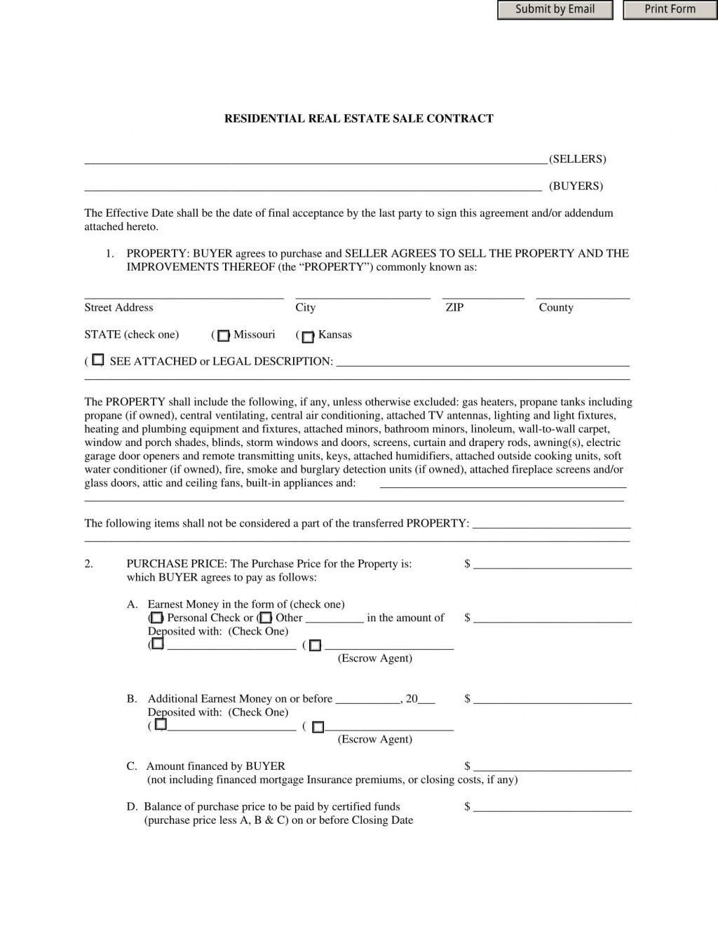 009 Exceptional Residential Purchase Agreement Template Picture  California Form FreeLarge