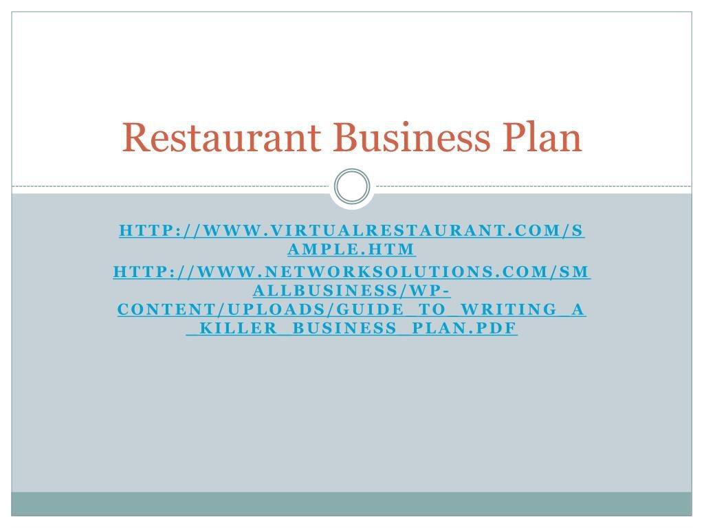 009 Exceptional Small Restaurant Busines Plan Ppt Presentation Idea  PowerpointLarge