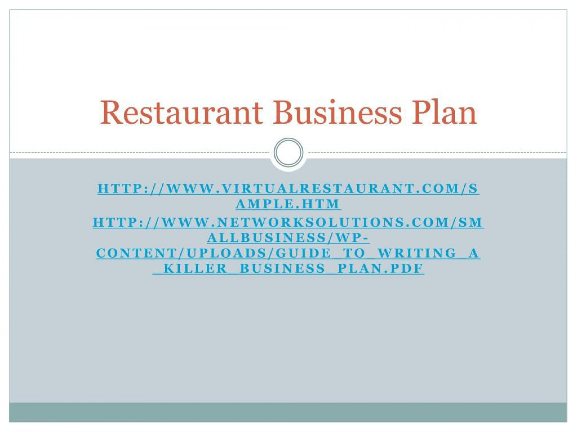 009 Exceptional Small Restaurant Busines Plan Ppt Presentation Idea  Powerpoint1920