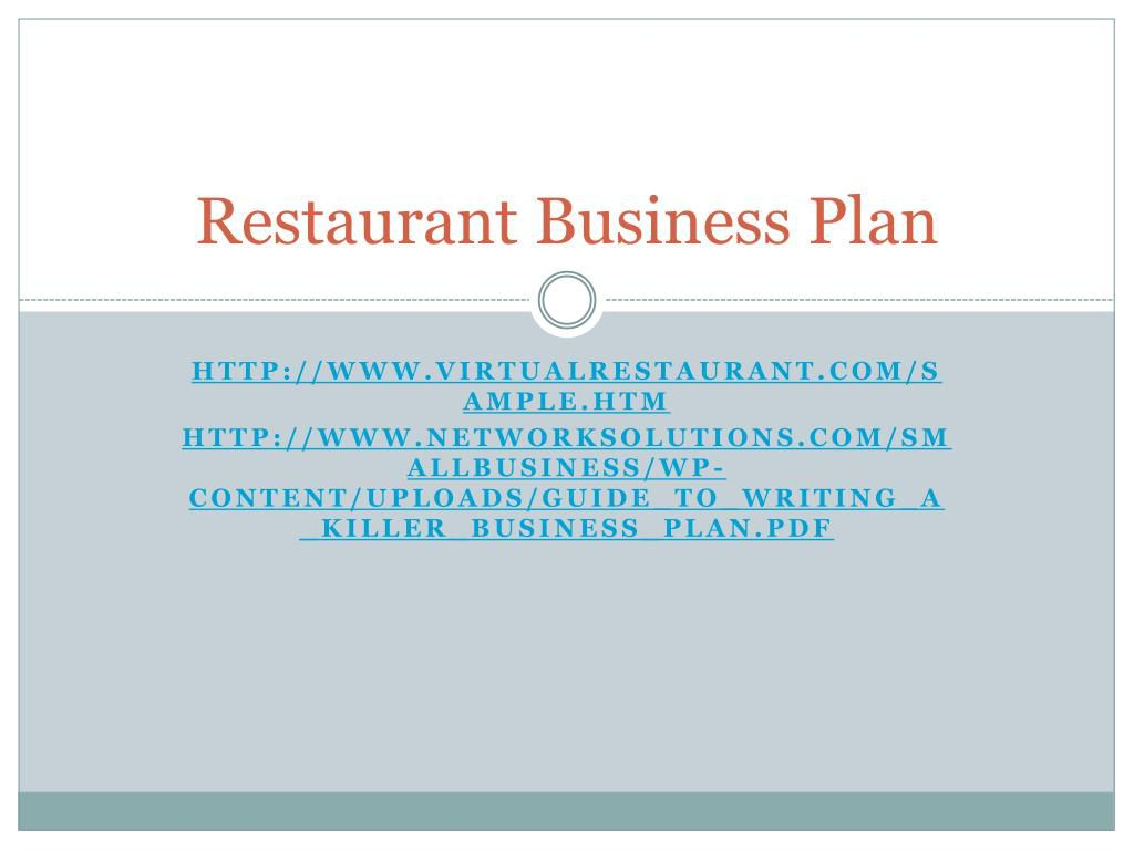 009 Exceptional Small Restaurant Busines Plan Ppt Presentation Idea  PowerpointFull