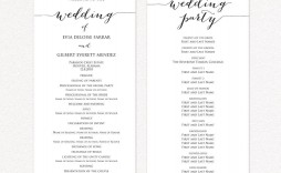 009 Exceptional Template For Wedding Program Inspiration  Word Free Catholic